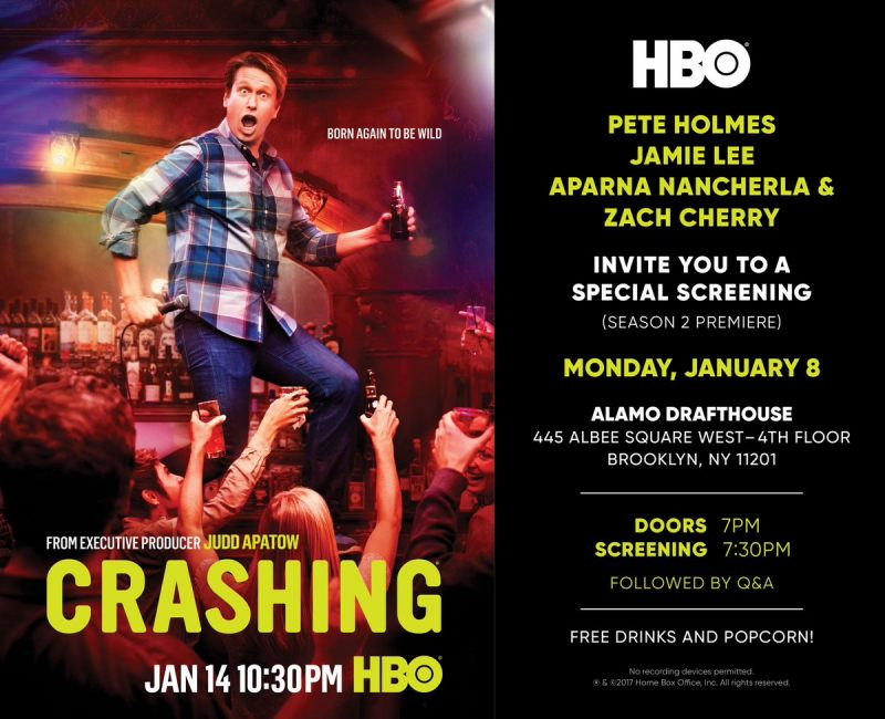 Join Us For The Crashing Season 2 Premiere Screening And Q A